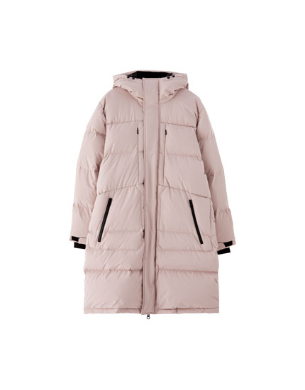 Quilted down puffer jacket