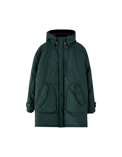 Long duck down parka