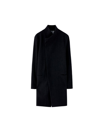 Basic high neck coat