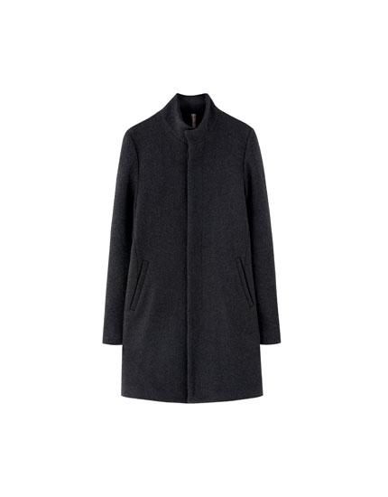 Basic high neck coat