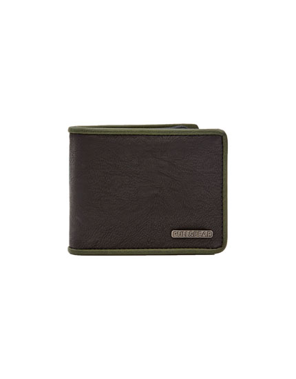 Wallet with khaki trim