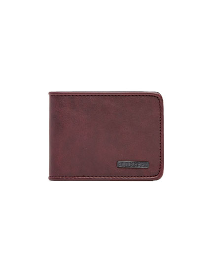 Plain wallet with matching trim