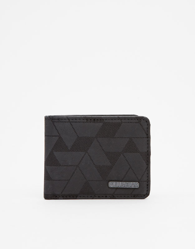Wallet With Geometric Pattern by Pull & Bear