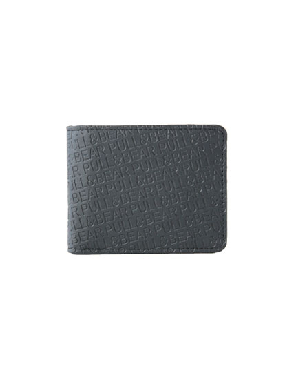 Raised logo print wallet