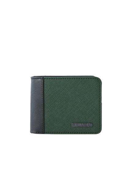 Khaki panel wallet