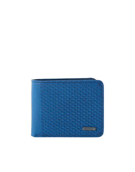 Blue raised panel wallet
