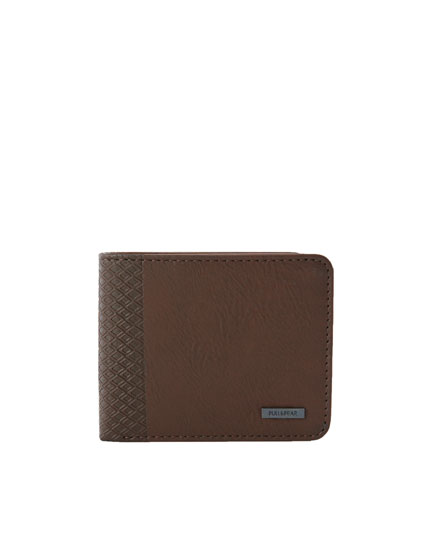 Brown raised print wallet