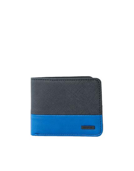 Blue panel wallet