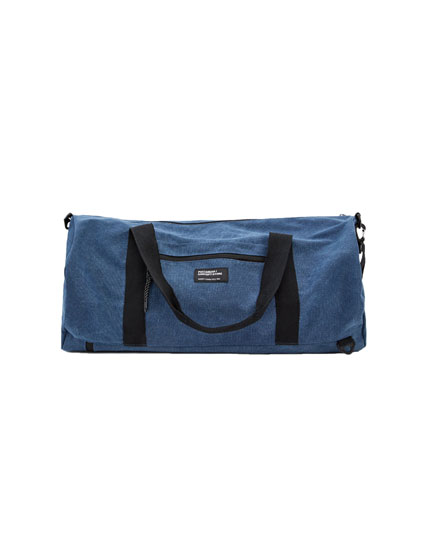 Blue bag with straps