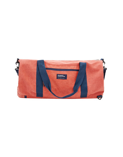 Orange bag with straps
