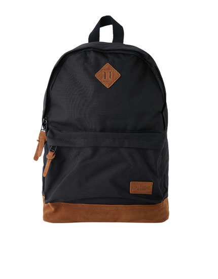 Two-tone patch backpack