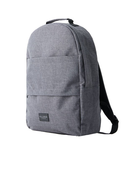 Charcoal grey double-pocket backpack