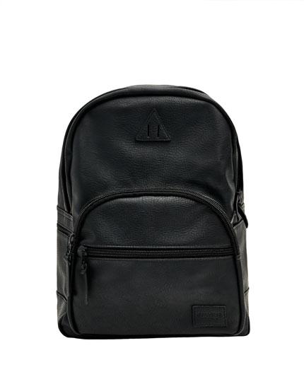 Zwarte rugzak in leerlook