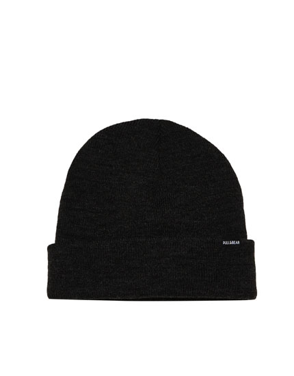 Coloured knit beanie hat