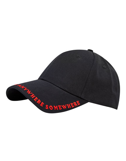 Embroidered slogan cap