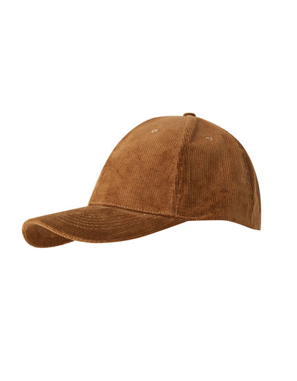 Brown corduroy cap