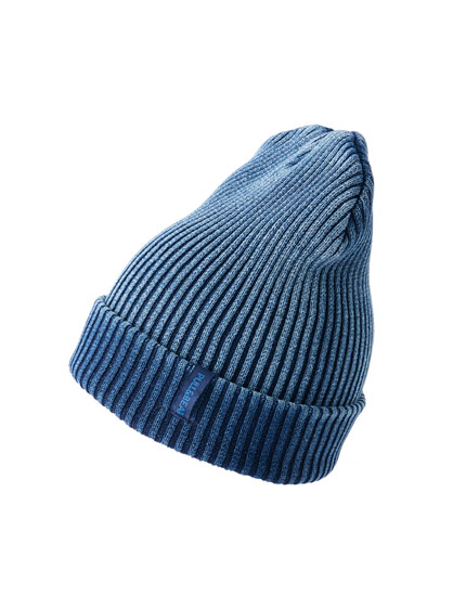 Indigo knit hat