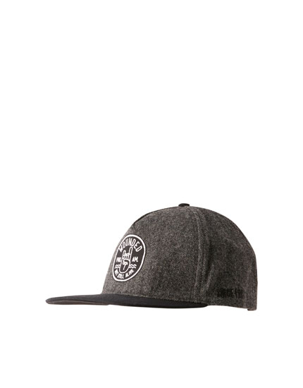 Flat peak cap with patch