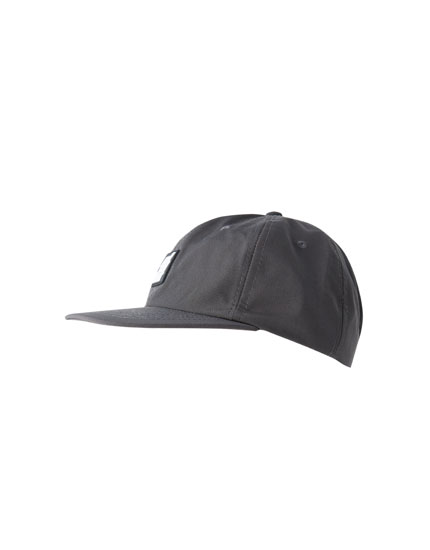 Grey cap with rubber patch