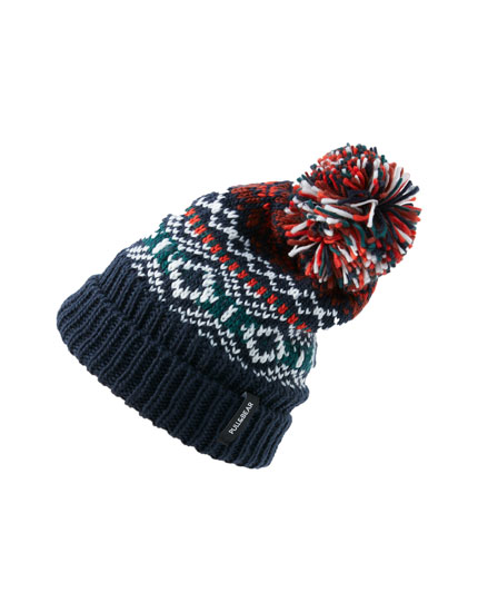 Borders knitted hat