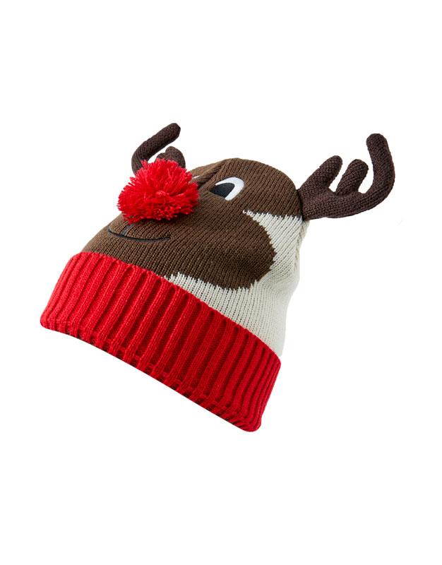 26f1e8f0917d9 OTHERS. Return. Christmas reindeer knit beanie
