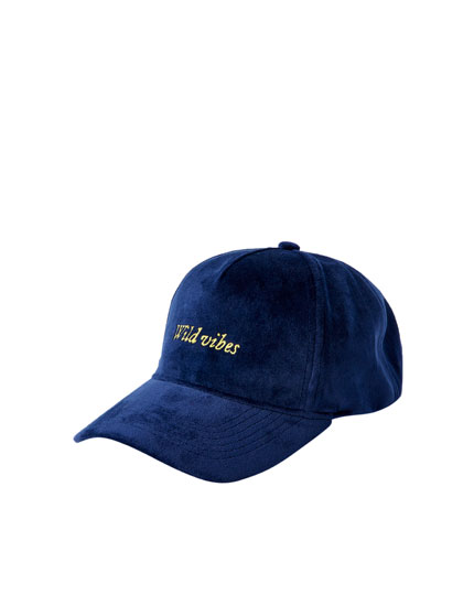Velvet cap with logo