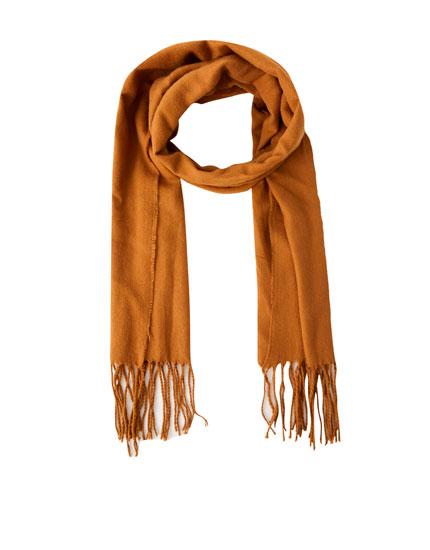 Basic-Schal mit Fransen
