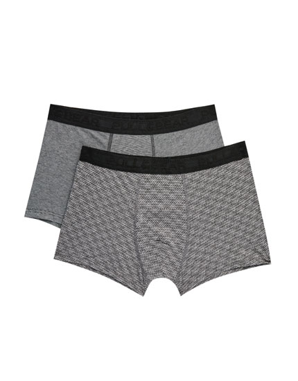 Pack de 2 boxers imprimé triangles