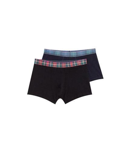 Pack of 2 tartan boxers