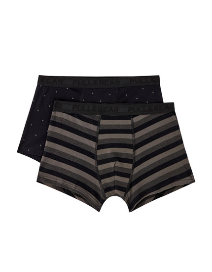 Pack 2 boxers rayas topos