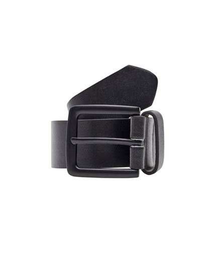 Faux leather belt