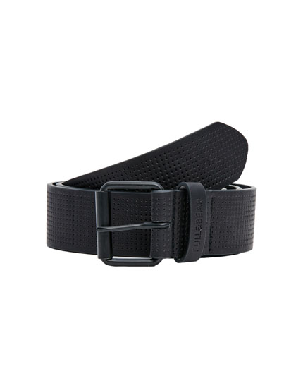 Perforated double-loop belt