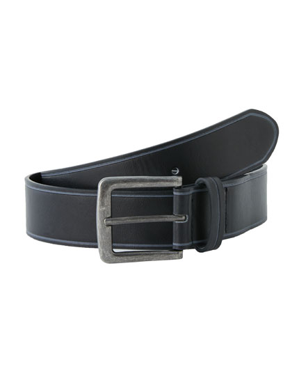 Black belt with contrasting trim