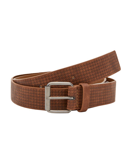 Brown houndstooth belt