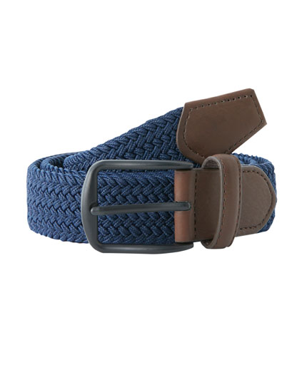 Plaited elastic belt