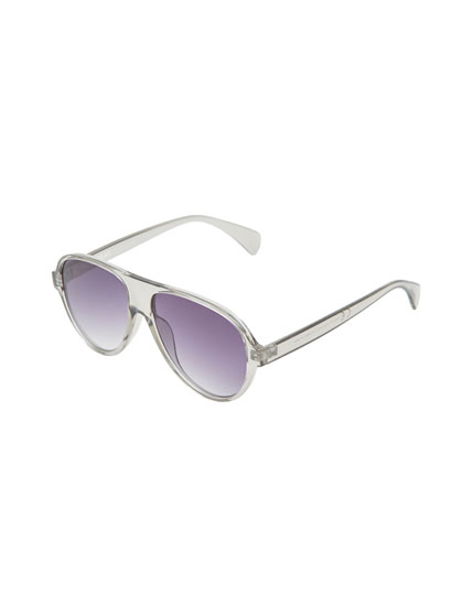 Two-tone frame sunglasses