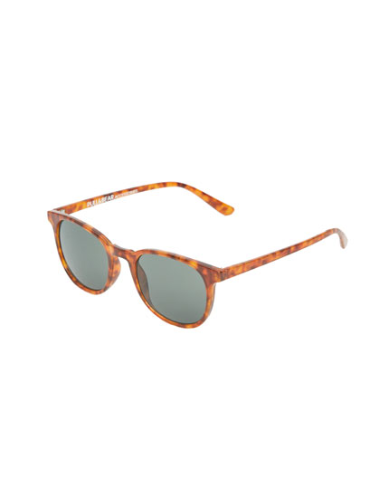 Sonnenbrille mit Gestell in Schildpattoptik