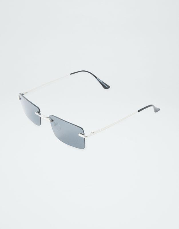 Rectangular Frame Sunglasses by Pull & Bear