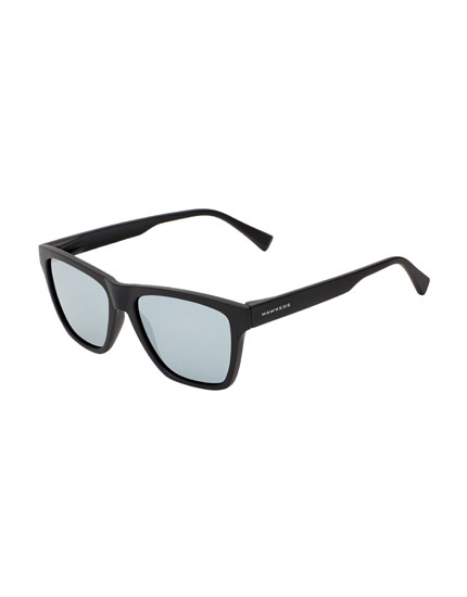 Hawkers Rubber Black Chrome One LS Sunglasses