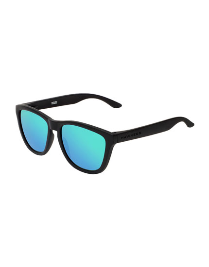 Hawkers Carbon Black Emerald One Sunglasses