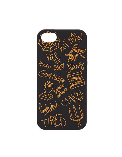 Carcasa iPhone 7/8 negra estampado relieve