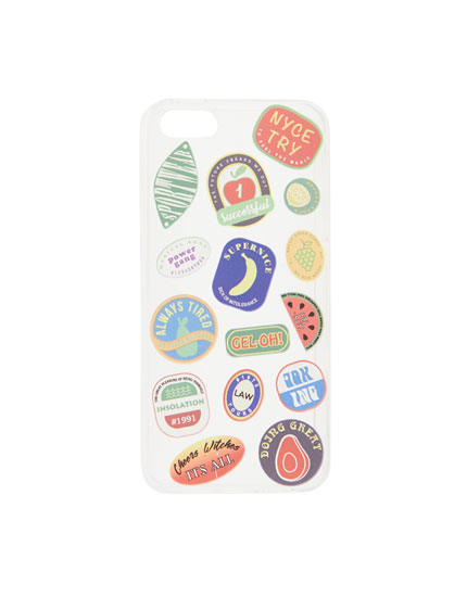 Fruit stickers iPhone 5/5S case