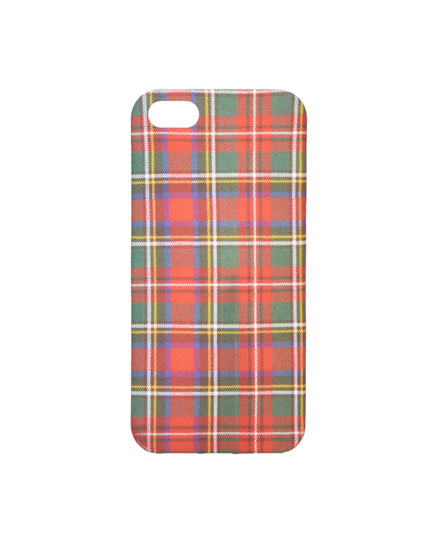 Red tartan iPhone 5/5S case