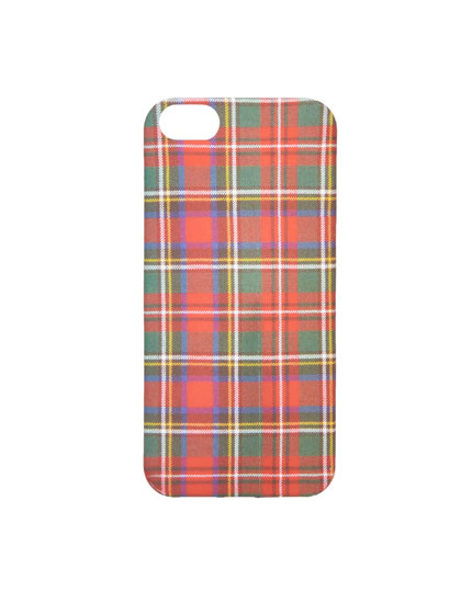 Red tartan iPhone 7/8 case