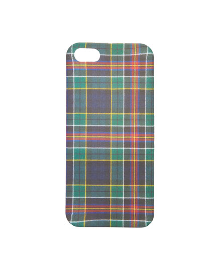 Green tartan iPhone 5/5S case