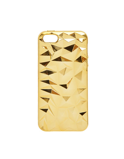 Carcasa diamantes dorados iPhone 5/5S