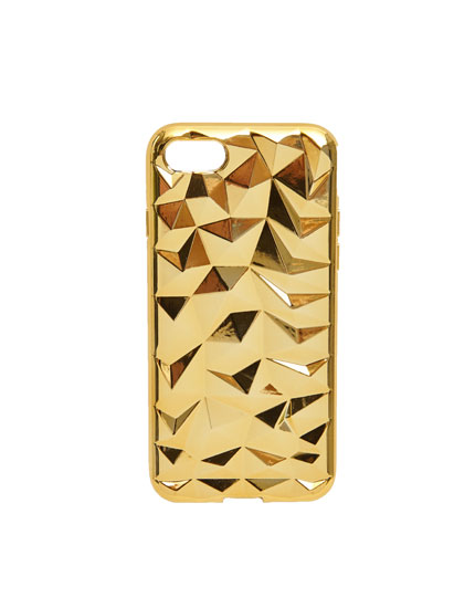 Carcasa diamantes dorados iPhone 7/8