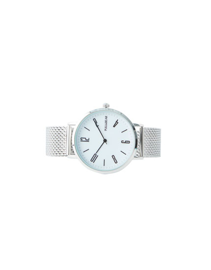 Silver-coloured watch