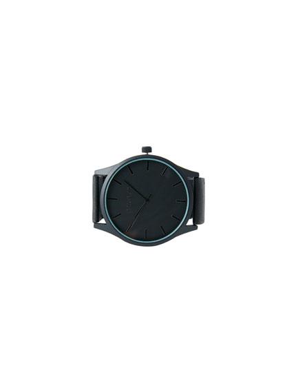 Reloj correa goma negro