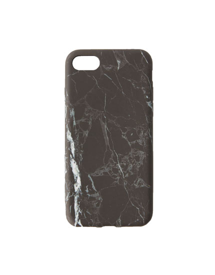 Grey marble-effect iPhone 7/8 case